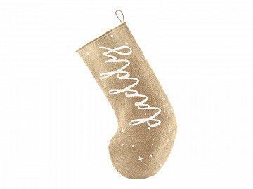 Decorative stocking Daddy, white, 23x39.5cm