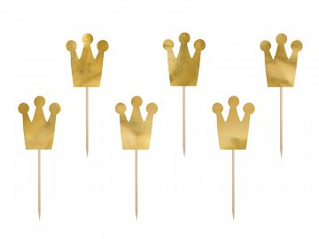 Cupcake toppers Princess - Crowns (1 ctn / 50 pkt) (1 pkt / 6 pc.)