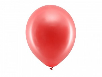 Rainbow Balloons 30cm metallic, red (1 pkt / 100 pc.)
