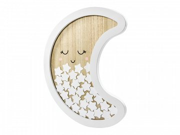 Wooden guest book - Moon, 38.5x30cm