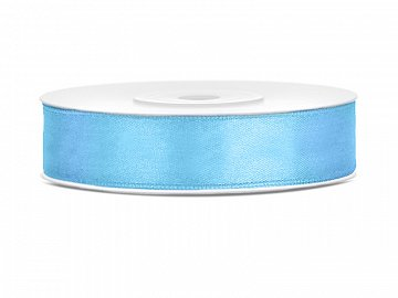 Satin Ribbon, sky-blue, 12mm/25m (1 pc. / 25 lm)