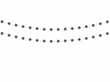Garland Snowflakes, black (1 pkt / 2 pc.)