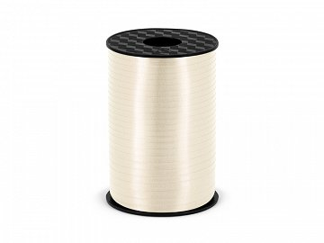 Plastic ribbon, light cream, 5mm/225m