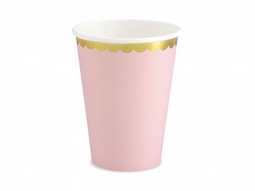 Cups, light pink, 220ml (1 pkt / 6 pc.)