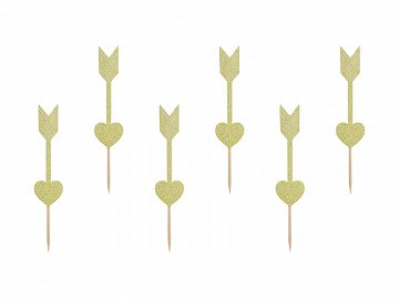 Cupcake toppers Sweet Love - Arrows (1 pkt / 6 pc.)