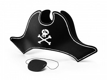 Pirate's Hat and eyepatch, 14cm