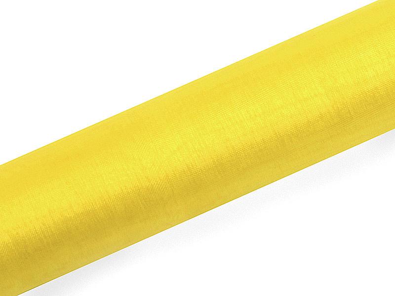 Organza žltá 16cm 6ks