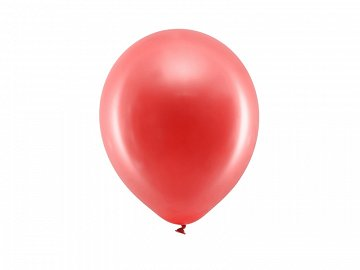 Rainbow Balloons 23cm metallic, red (1 pkt / 100 pc.)