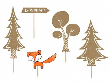 Toppers Woodland, mix (1 pkt / 5 pc.)