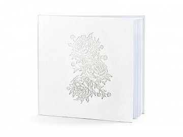 Guest Book Peonies, 20.5x20.5cm, 22 pages
