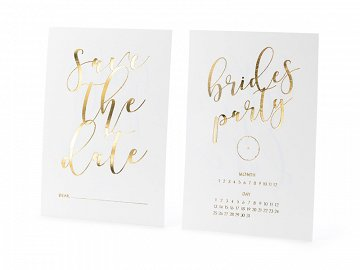 Invitations Save the date, white (1 pkt / 10 pc.)