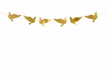 Garland Doves, gold, 86cm (1 ctn / 50 pc.)