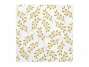 Napkins Branches with leaves, 33x33 cm (1 pkt / 20 pc.)