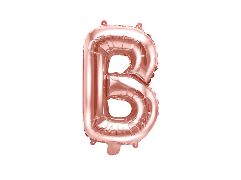 "Foil Balloon Letter ""B"", 35cm, rose gold - Internet shop"