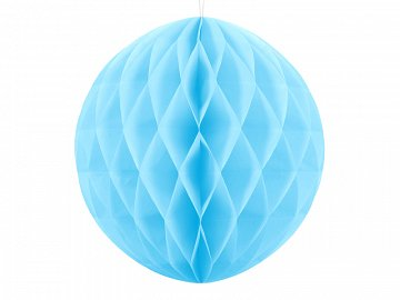 Honeycomb Ball, sky-blue, 30cm (1 ctn / 50 pc.)