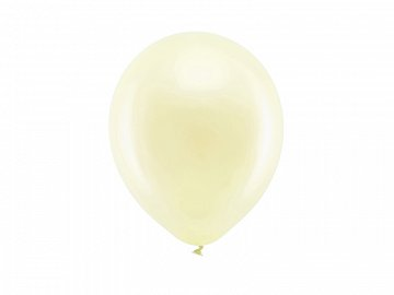 Rainbow Balloons 23cm metallic, cream (1 pkt / 100 pc.)