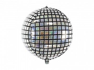 Foil Balloon Disco Ball, 40cm