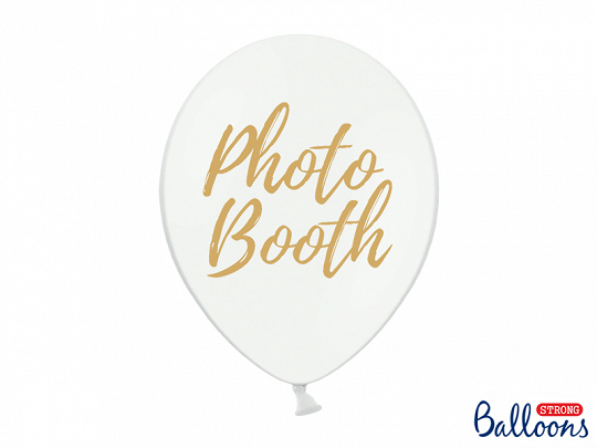 Balony 30cm, Photo Booth, P. Pure White (1 op. / 50 szt.)