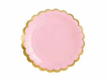 Plates, light pink, 18cm (1 pkt / 6 pc.)