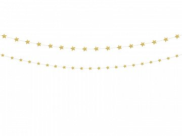 Garland Stars, gold (1 ctn / 40 pkt) (1 pkt / 2 pc.)