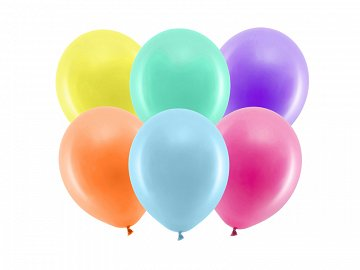 Rainbow Balloons 23cm pastel, mix (1 pkt / 100 pc.)