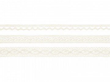 Laces, cream (1 pkt / 3 pc. / 4,50 lm)