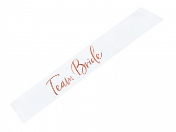 Sash Team bride, white, 75cm