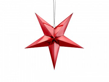 Paper star, 45cm, red