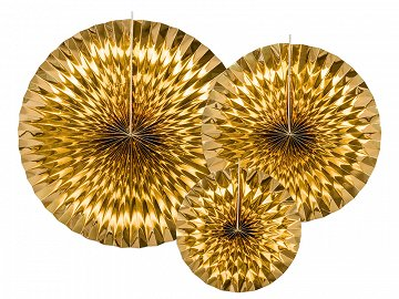 Decorative Rosettes, gold (1 pkt / 3 pc.)