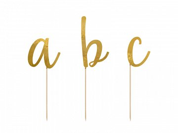 Toppers Alphabet, gold, 9.5-12cm (1 pkt / 53 pc.)