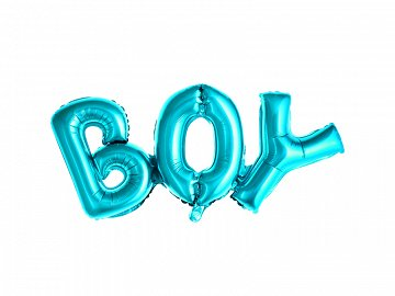 Foil Balloon Boy, 67x29cm, blue