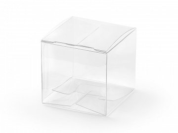 Square boxes, transparent, 5x5x5cm (1 pkt / 10 pc.)