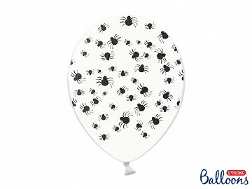 Balloons 30 cm, Spiders, Crystal Clear (1 pkt / 6 pc.)