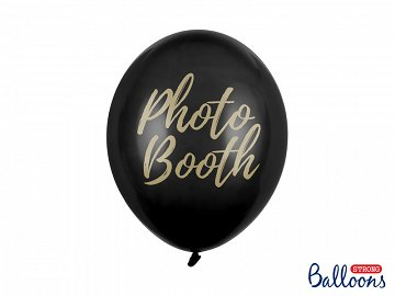 Balony 30cm, Photo Booth, Pastel Black (1 op. / 50 szt.)