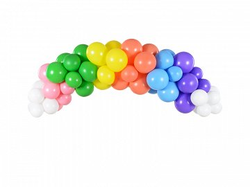 Balloon garland - Rainbow, 200cm (1 pkt / 60 pc.)