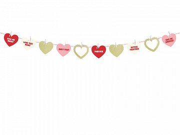 Garland Sweet Love, 1.1 m (1 ctn / 40 pkt)