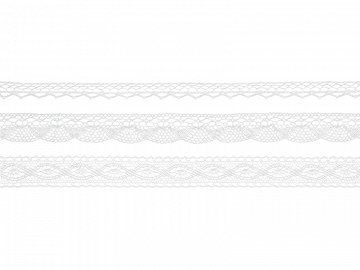 Laces, white (1 ctn / 32 pkt) (1 pkt / 3 pc. / 4,50 lm)