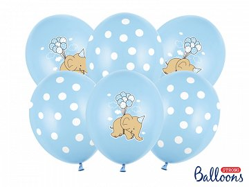 Balloons 30cm, Elephant, Pastel Baby Blue Mix (1 pkt / 6 pc.)