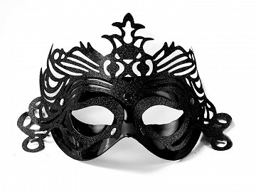 Party Mask with ornament, black