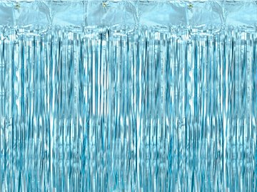 Party curtain, blue, 90x250cm