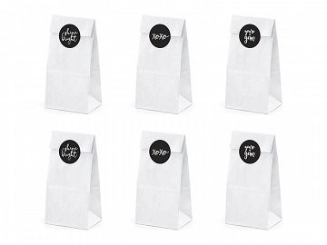 Treat bags, white (1 pkt / 6 pc.)