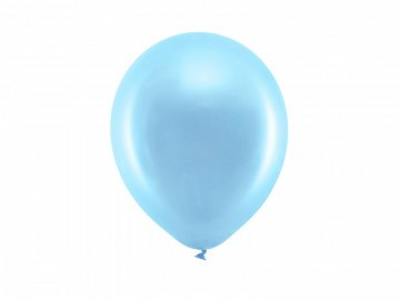 Rainbow Balloons 23cm metallic, blue (1 pkt / 100 pc.)