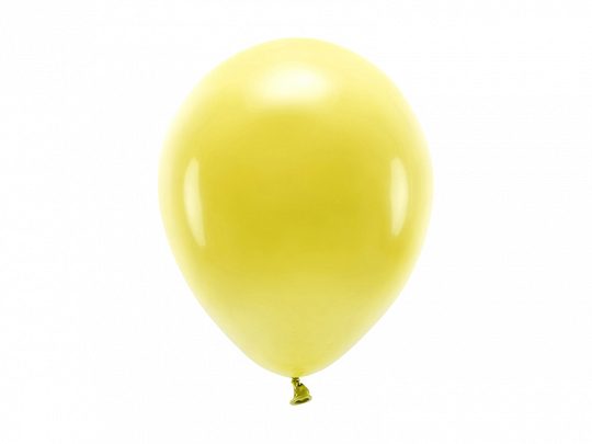 Eco Balloons 26cm pastel, dark yellow (1 pkt / 100 pc.)