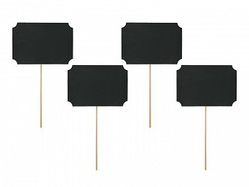 Cards on a stick, black, 11 x 8cm (1 pkt / 4 pc.)