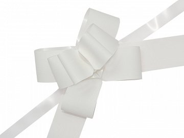 Pull bow, white, 5cm (1 pkt / 10 pc.)
