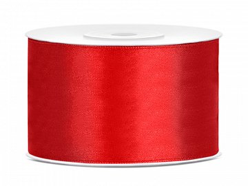 Satin Ribbon, red, 38mm/25m