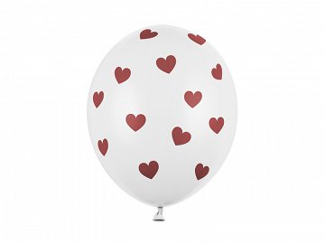 Balloons 30cm, Hearts, Pastel Pure White (1 pkt / 50 pc.)