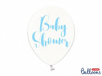 Balony 30cm, Baby Shower, Crystal Clear (1 op. / 6 szt.)