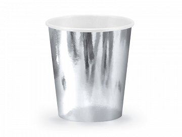 Paper Cups, silver, 180ml (1 pkt / 6 pc.)