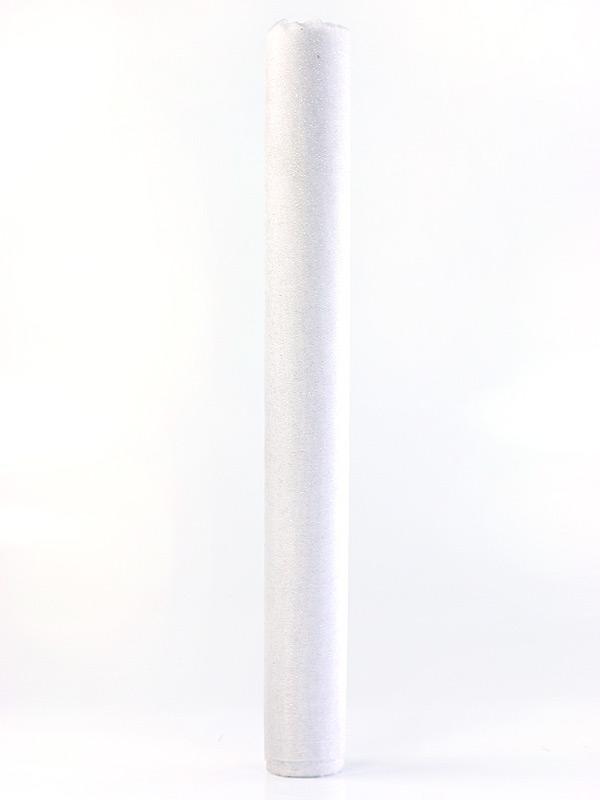 Organza biela s trblietkami 36cm 6ks